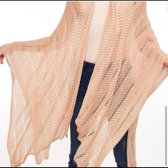 LAST- Dramatic Open Knit Wrap w/ Arm Holes